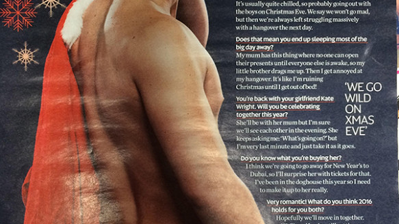 Dan Edgar bares all in Now magazine